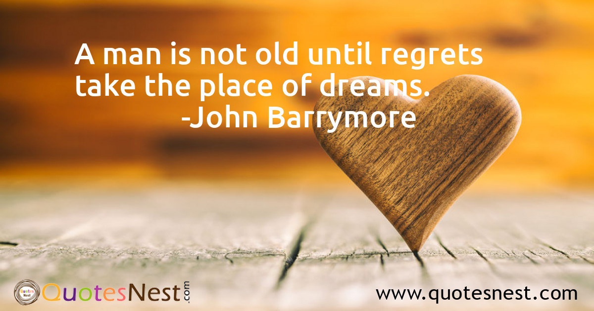 A man is not old until regrets take the place of dreams.